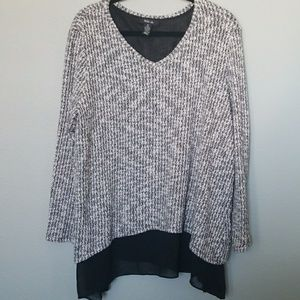 Style & Co. XL layered long sleeve sweater top